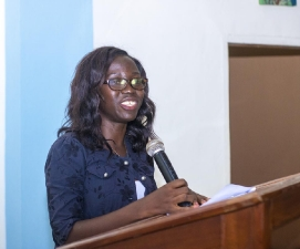 Joan Akos Tsahey, First female MSC criminology student in Ghana
