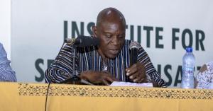 Justice Atuguba deliveing his keynote address